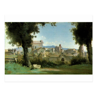 La visión desde el Farnese cultiva un huerto, Roma Postales