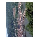La visión desde Heidelberg, Alemania contenta los  Postales