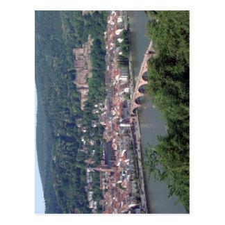 La visión desde Heidelberg Alemania contenta los Tarjetas Postales