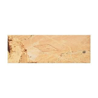 La visión desde Masada Lienzo Envuelto Para Galerias