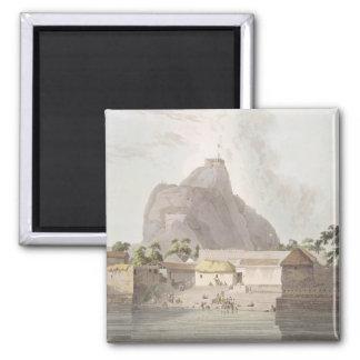 La visión en el fuerte de Trichinopoly, platea 47  Imán Cuadrado