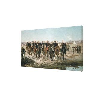 La visita al negro del río de general Julio Arge Impresión En Lona Estirada