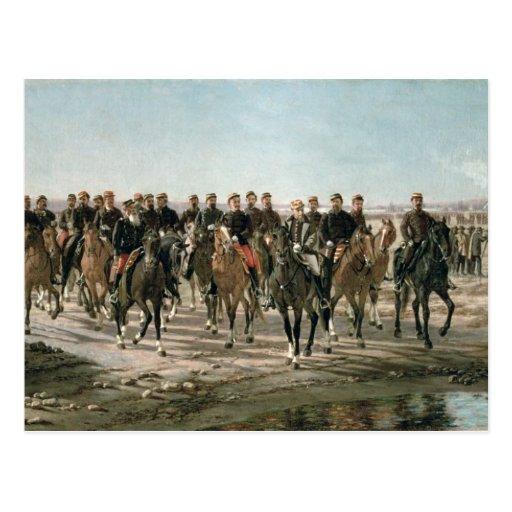 La visita al negro del río de general Julio Arge Tarjetas Postales