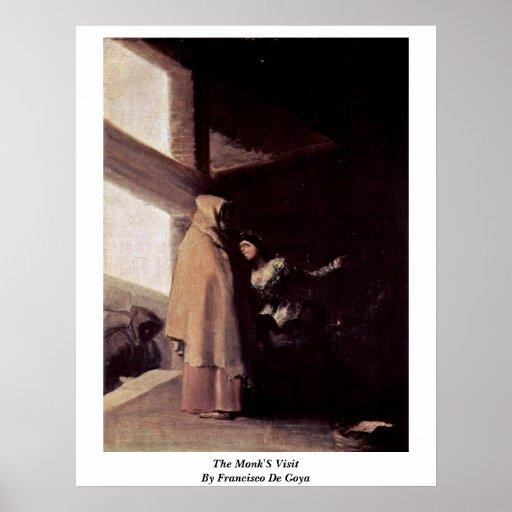 La visita de los monjes de Francisco De Goya Posters
