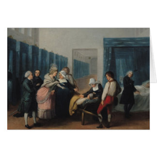 La visita de Monsieur y de señora Necker Tarjeta De Felicitación