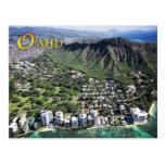 La vista aérea de la playa de Waikiki y el diamant Postal