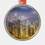 La vista de Hong Kong del pico Adorno De Reyes