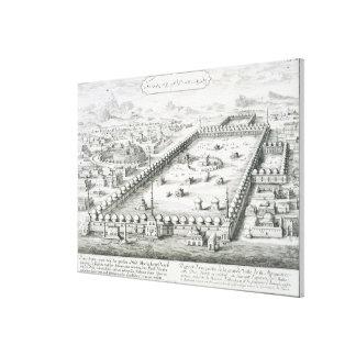 La vista de La Meca, del 'einer de Entwurf histori Lona Estirada Galerías