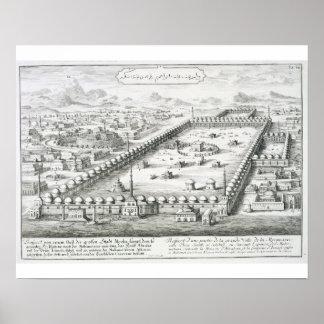 La vista de La Meca, del 'einer de Entwurf histori Poster