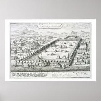 La vista de La Meca, del 'einer de Entwurf histori Póster
