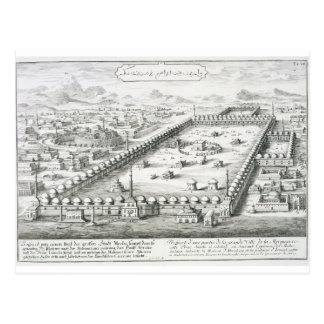 La vista de La Meca, del 'einer de Entwurf histori Postal