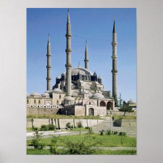 La vista de la mezquita, otomano, construyó c.1569 póster