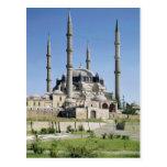 La vista de la mezquita, otomano, construyó postal