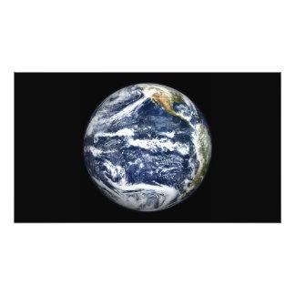 La vista de la tierra llena se centró sobre Oc Fotografía