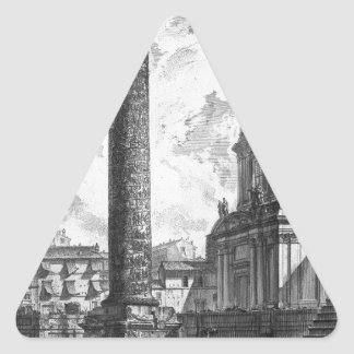 La vista de las dos iglesias la llamó el Madonn Pegatina Triangular