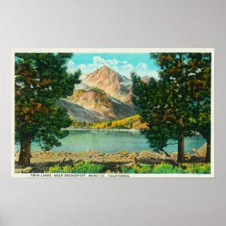 La vista de los lagos gemelos acerca a Bridgeport Poster
