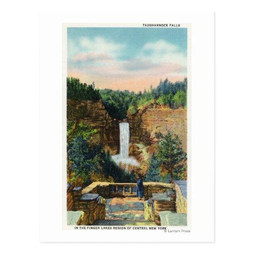 La vista de Taughannock baja # 2 Postal