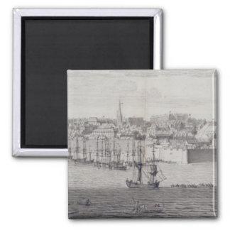 La vista del sur de Berwick sobre tweed, c.1743-45 Imán Cuadrado