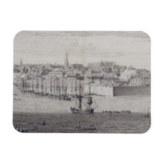 La vista del sur de Berwick sobre tweed, c.1743-45 Rectangle Magnet