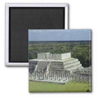 La vista del templo de los guerreros fija el ANUNC Imán Cuadrado