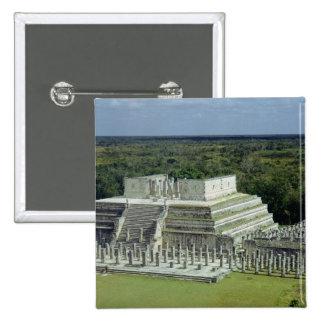 La vista del templo de los guerreros fija el ANUNC Pin Cuadrada 5 Cm