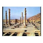 La vista general del Apadana fundó c.518 A.C. Tarjeta Postal