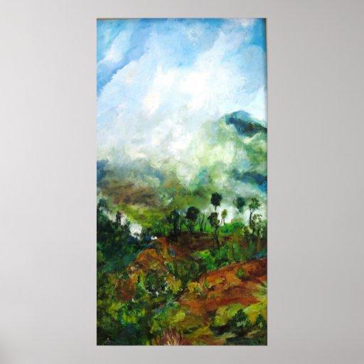 La Vista Verde Framed Print