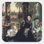 La viuda, 1868 pegatina cuadradas