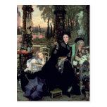 La viuda, 1868 tarjetas postales