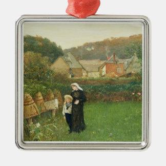 La viuda, 1895 (aceite en lona) ornamento de navidad