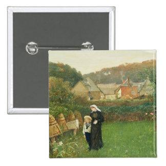 La viuda, 1895 (aceite en lona) pin cuadrada 5 cm