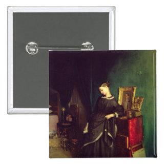 La viuda, c.1850 pin cuadrada 5 cm