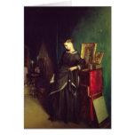 La viuda, c.1850 tarjeta de felicitación