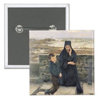 La viuda del Ile de Sein, 1880 Pin Cuadrada 5 Cm