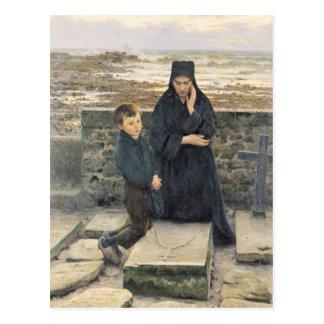 La viuda del Ile de Sein 1880 Tarjeta Postal