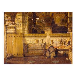 La viuda egipcia Alma-Tadema Tarjeta Postal