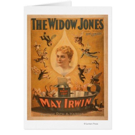 """""""La viuda Jones"""" que atrae a hombres como moscas Tarjeta De Felicitación"""
