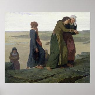 La viuda o la familia del pescador póster