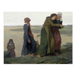 La viuda o la familia del pescador tarjetas postales