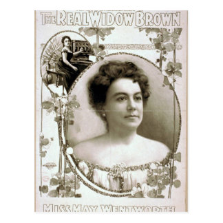 "La viuda real Brown, ""Srta. May Wentworth"" T retro Postales"