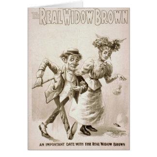 La viuda real Brown Tarjeta De Felicitación