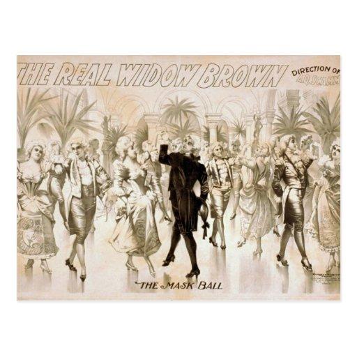 """La viuda real Brown, vintage Thea """"de la bola de l Tarjeta Postal"""