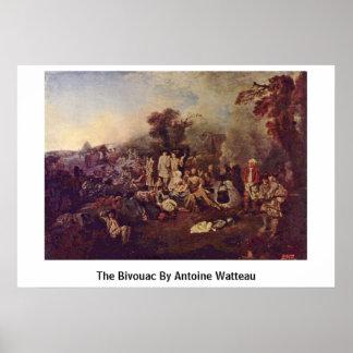 La vivac de Antoine Watteau Poster