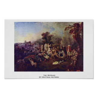 La vivac de Watteau Antoine Poster