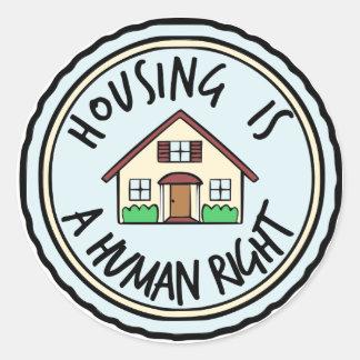 La vivienda es pegatinas de un derecho humano pegatina redonda