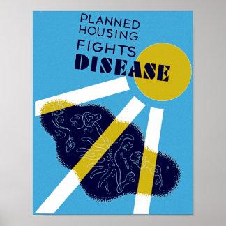 La vivienda prevista lucha enfermedad póster