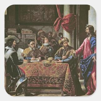 La vocación de St Matthew Pegatina Cuadrada