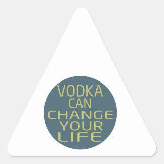 La vodka puede cambiar su vida calcomanías de trianguladas