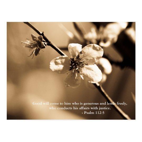 La voluntad viene a él que sea abundante y preste tarjeta postal