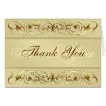 La voluta de la grande duquesa oro le agradece Not Felicitacion